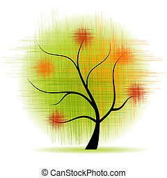 sztuka, drzewo, piękny