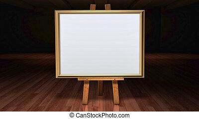 sztuka galeria, sztaluga, zaciemniony