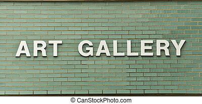 sztuka galeria, znak
