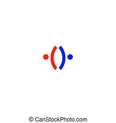 sztuka, ludzie, biały, znak, odizolowany, symbol