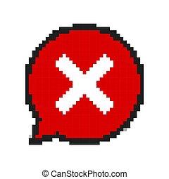 sztuka, nie, poznaczcie., ilustracja, wektor, projektować, pixel, czerwony