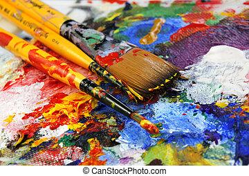 sztuka, paleta