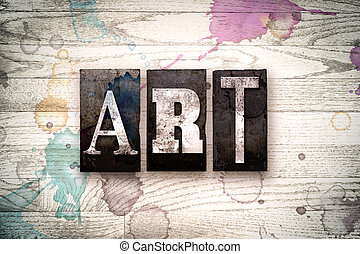 sztuka, pojęcie, metal, letterpress, typ