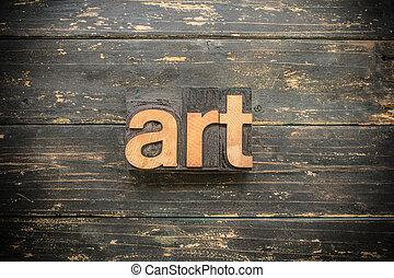 sztuka, pojęcie, typ, letterpress, drewniany, słowo, rocznik wina