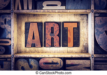 sztuka, pojęcie, typ, letterpress