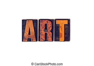 sztuka, pojęcie, typ, odizolowany, letterpress