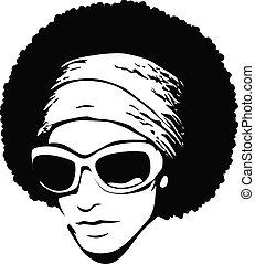 sztuka, sunglasses, hukiem, afro