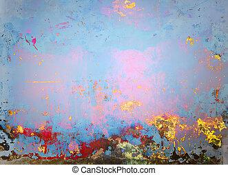 sztuka, tło, malować, malarstwo, abstrakcyjny, stary, błękitny, halftone, chorągiew, barwny, projektować, rocznik wina, tło.
