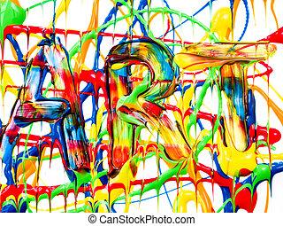 sztuka, tło