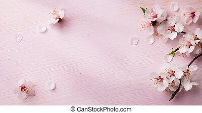 sztuka, wiosna, tło, ułożyć, kwiaty
