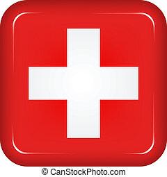 szwajcaria bandera, wektor