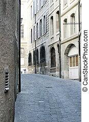 szwajcaria, genewa, stary, ulica, miasto
