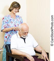 szyja, ultradźwięk, -, terapia