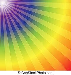 tęcza, abstrakcyjny, promienie, tło, promieniowy