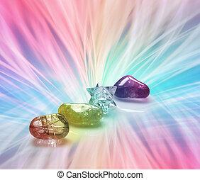 tęcza, kryształy, gojenie