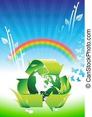 tęcza, kula, konserwacja, tło, środowiskowy