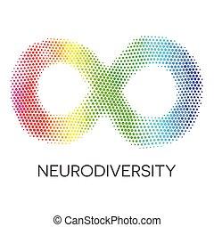 tęcza, loop., nieskończoność, neurodiversity, symbol.