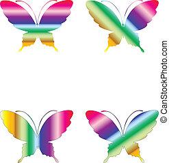 tęcza, motyle