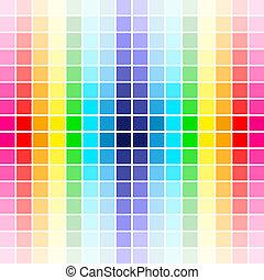 tęcza, paleta, kolor
