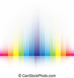 tęcza, pasiasty, kolor, tło