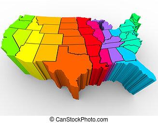 tęcza, zjednoczony, rozmaitość, -, kolor, stany, kulturalny