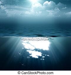 tła, abstrakcyjny, twój, morze, ocean, projektować