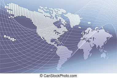 tło, światowa mapa, pojęcie