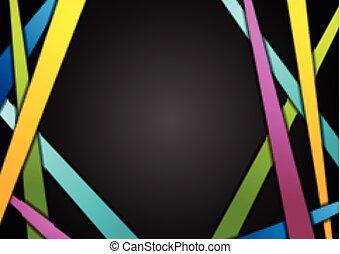 tło, abstrakcyjny, czarnoskóry, pasy, barwny