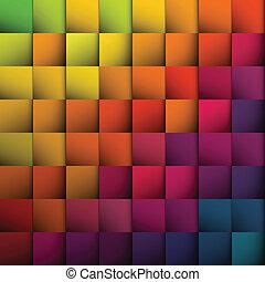 tło., abstrakcyjny, kwadraty, wektor, eps10