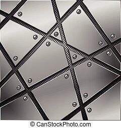 tło., abstrakcyjny, wektor, metal, illustration.