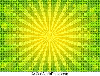 tło, abstrakcyjny, zielony, jasny, w