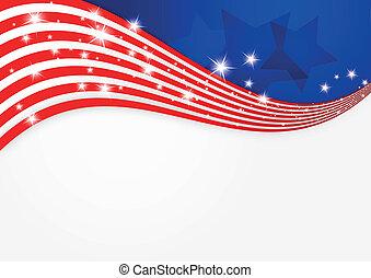 tło, amerykańska bandera
