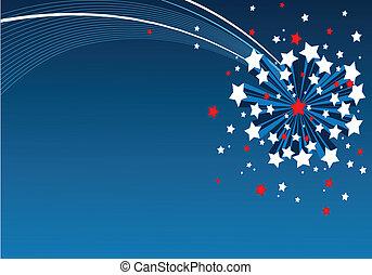 tło, amerykanka, starburst