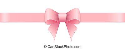 tło., biały, różowy, łuk, list miłosny, day.