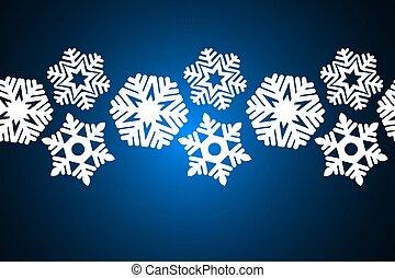tło., boże narodzenie, płatki śniegu, seamless, ozdoba, projektować, błękitny