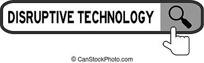 tło, danie, szkło powiększające, biały, disruptive, ikona, słowo, technologia, chorągiew, rewizja, znaleźć