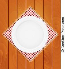 tło, deski, drewniany, płyta, serwetka, kuchnia, eppty, biały