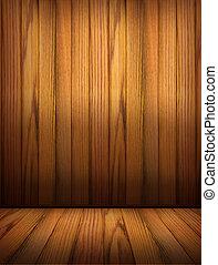 tło, drewniany, pokój, wewnętrzny, design.