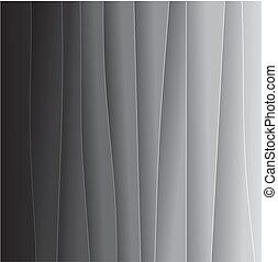 tło, graphic., od-bielu, jeden, papier, składa, koniec, &, -, inny, czarnoskóry, biały, abstrakcyjny, bardzo, listki, graficzny, to, lekki, szary, wektor, tony, albo, zasłona