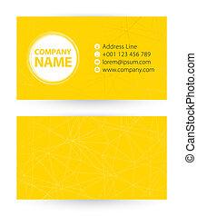 tło, handlowy, abstrakcyjny, żółty, website., adres, telefon, poczta, liniowany, karta, ikona