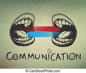 tło., konceptualny, komunikacja, abstrakcyjny