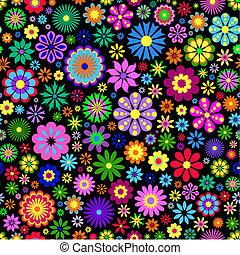 tło, kwiat, czarnoskóry, barwny