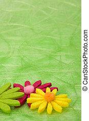 tło., kwiaty, zielony, sizal, wiosna