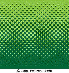 tło, linearny, halftone, zielony akcent