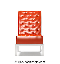 tło, nowoczesny, odizolowany, fotel, biały