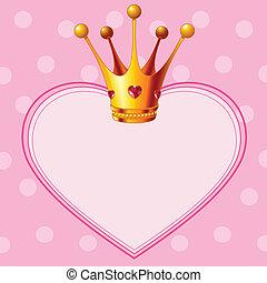 tło, różowy, korona, księżna
