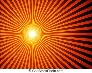 tło, sunburst