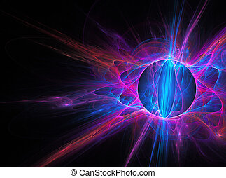 tło, sztuka, abstrakcyjny, fractal, kula