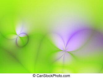 tło, sztuka, wiosna, abstrakcyjny, fractal