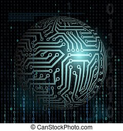 tło., technologia, cyfrowy